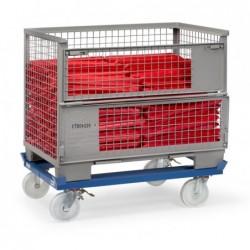 Rouleur de palettes déplacement en train charge 1050 kg