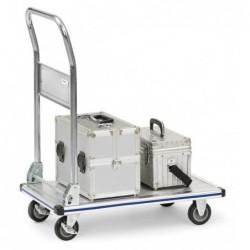 Chariot à plateforme aluminium avec dossier rabattable