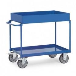 Chariot 2 plateaux tôlés...