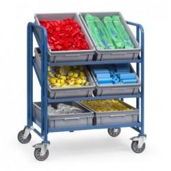 Servante pour bacs plastiques avec bacs 3 niveaux
