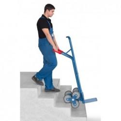 Diable escalier en acier roue en étoile à 3 branches