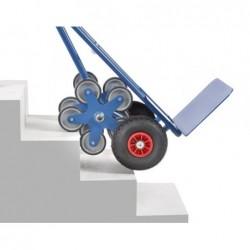 Diable escalier en acier roue en étoile à 5 branches