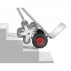 Diable escalier aluminium roue en étoile à 5 branches