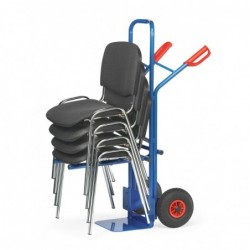 Diable porte-chaises support escamotable