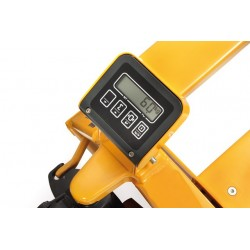 Transpalette charge 2500 kg  roues directrices caoutchouc