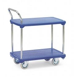 Chariot 2 plateaux plastiques