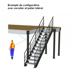 Mezzanine industrielle métallique 20 m2