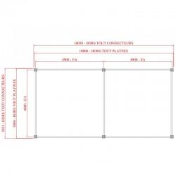 Mezzanine métallique industrielle 50 m2