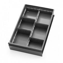 Division de tiroir gris